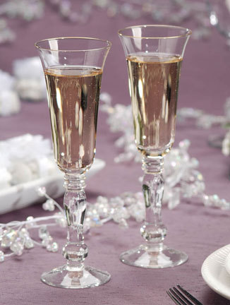 Reception, Flowers & Decor, Registry, ivory, gold, Drinkware, Champagne, inc, Glasses, Toasting, Flutes, Weddings by mail