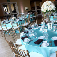 Reception, Flowers & Decor, white, blue, brown, gold