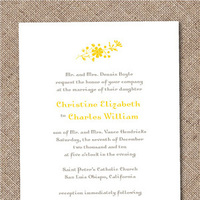 Stationery, white, yellow, Invitations, Paper dahlia