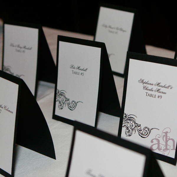 Ceremony, Reception, Flowers & Decor, Stationery, black, Escort Cards, Cards, Escort, Place, Weddings by ah