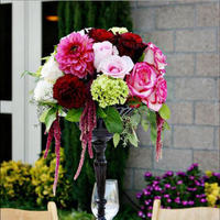 Reception, Flowers & Decor, white, pink, red, black, Centerpieces, Vineyard, Flowers, Vineyard Wedding Flowers & Decor, Centerpiece, Wedding, Tall, The, Maroon, Stylish, The stylish soiree, Soiree