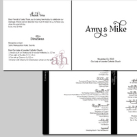 Ceremony, Reception, Flowers & Decor, Stationery, white, black, Invitations, Ceremony Programs, Programs, Wedding, Program, Weddings by ah