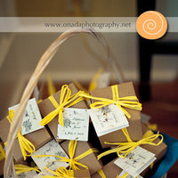 Inspiration, Reception, Flowers & Decor, Favors & Gifts, white, yellow, silver, Favors, Board, Onada photography
