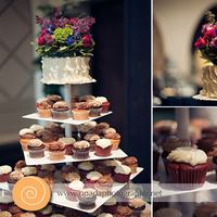 Reception, Flowers & Decor, Cakes, white, pink, purple, silver, cake, Centerpieces, Cupcakes, Onada photography