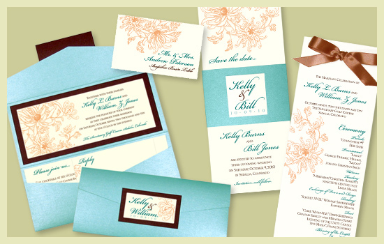 Stationery, orange, blue, brown, invitation, Invitations, Escort Cards, Program, Place card, Wedding program, Escort card, Save the date card, I do graphics