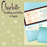 Stationery, orange, blue, brown, invitation, Invitations, Pocketfold, Envelopments, Wedding invitation, Pocketfold invitation, I do graphics