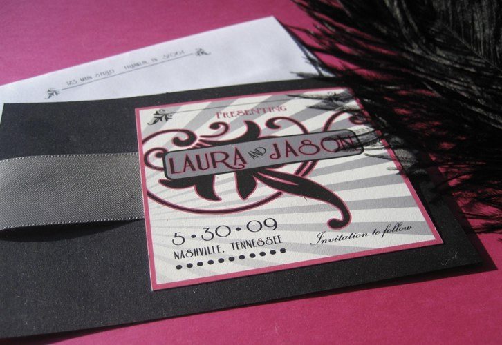Beauty, Inspiration, Stationery, pink, black, silver, Feathers, Vintage, Invitations, Board, Hot, Theater, Feather, Ostrich, Southall eden