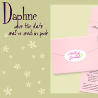 Stationery, pink, invitation, Invitations, Save-the-Dates, Save the date, Envelopments, I do graphics, Seal and send