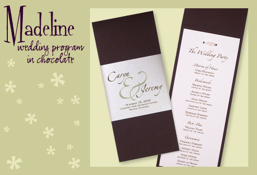 Stationery, white, green, brown, invitation, Invitations, Program, Booklet, Wedding program, I do graphics, Booklet wedding program