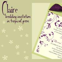 white, green, purple, Invitations, invitation, Wedding invitation, I do graphics, Booklet invitation, Stationery