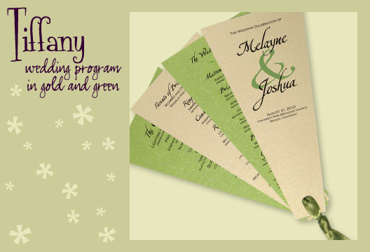 Stationery, green, gold, invitation, Invitations, Program, Fan, Wedding program, Fan program, I do graphics, Fan wedding program