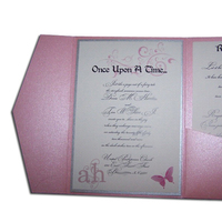 Ceremony, Reception, Flowers & Decor, Stationery, pink, silver, Invitations, Weddings by ah