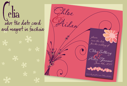 Stationery, pink, purple, invitation, Invitations, Save-the-Dates, Save the date, Magnet, I do graphics