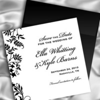 Inspiration, Stationery, white, black, Classic, Square, Invitations, And, Board, The, Save, Date, Simple, Southall eden