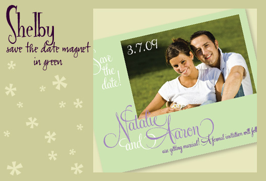 Stationery, green, invitation, Invitations, Save-the-Dates, Save the date, Magnet, I do graphics