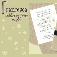 Stationery, white, black, gold, invitation, Invitations, Wedding invitation, I do graphics, Pouchette