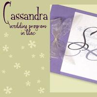 Stationery, white, purple, Invitations, Program, Booklet, Wedding program, I do graphics