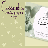 Stationery, white, green, Invitations, Program, Booklet, Wedding program, I do graphics