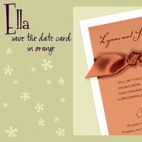Stationery, orange, invitation, Invitations, Save-the-Dates, Save the date, I do graphics