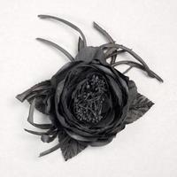 Beauty, Flowers & Decor, Jewelry, black, silver, Brooches, Flowers, Flower, Grey, Hair, Brooch, Pin