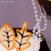 Reception, Flowers & Decor, Cakes, white, orange, brown, cake, Vegas photo