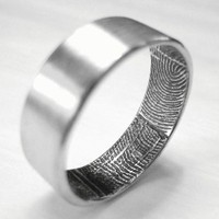 Jewelry, white, silver, Fabulusteretsycom, Fingerprint