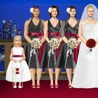 Beauty, Ceremony, Inspiration, Flowers & Decor, Bridesmaids, Bridesmaids Dresses, Wedding Dresses, Fashion, white, red, black, dress, Hair, Board
