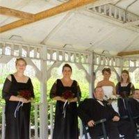 white, black, Outdoor, Wedding, Party