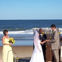 Ceremony, Flowers & Decor, Wedding Dresses, Beach Wedding Dresses, Fashion, yellow, dress, Beach, Ceremony Flowers, Flowers, Beach Wedding Flowers & Decor, Sunflowers, Archway, Flower Wedding Dresses
