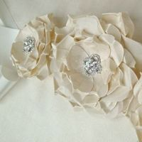 Flowers & Decor, Wedding Dresses, Fashion, ivory, dress, Flower, Wedding, Bridal, Sash, Emici bridal