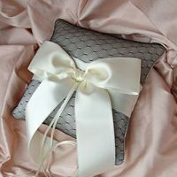Ceremony, Flowers & Decor, white, ivory, pink, black, Ring, Pillow, Bearer, Net, Emici bridal