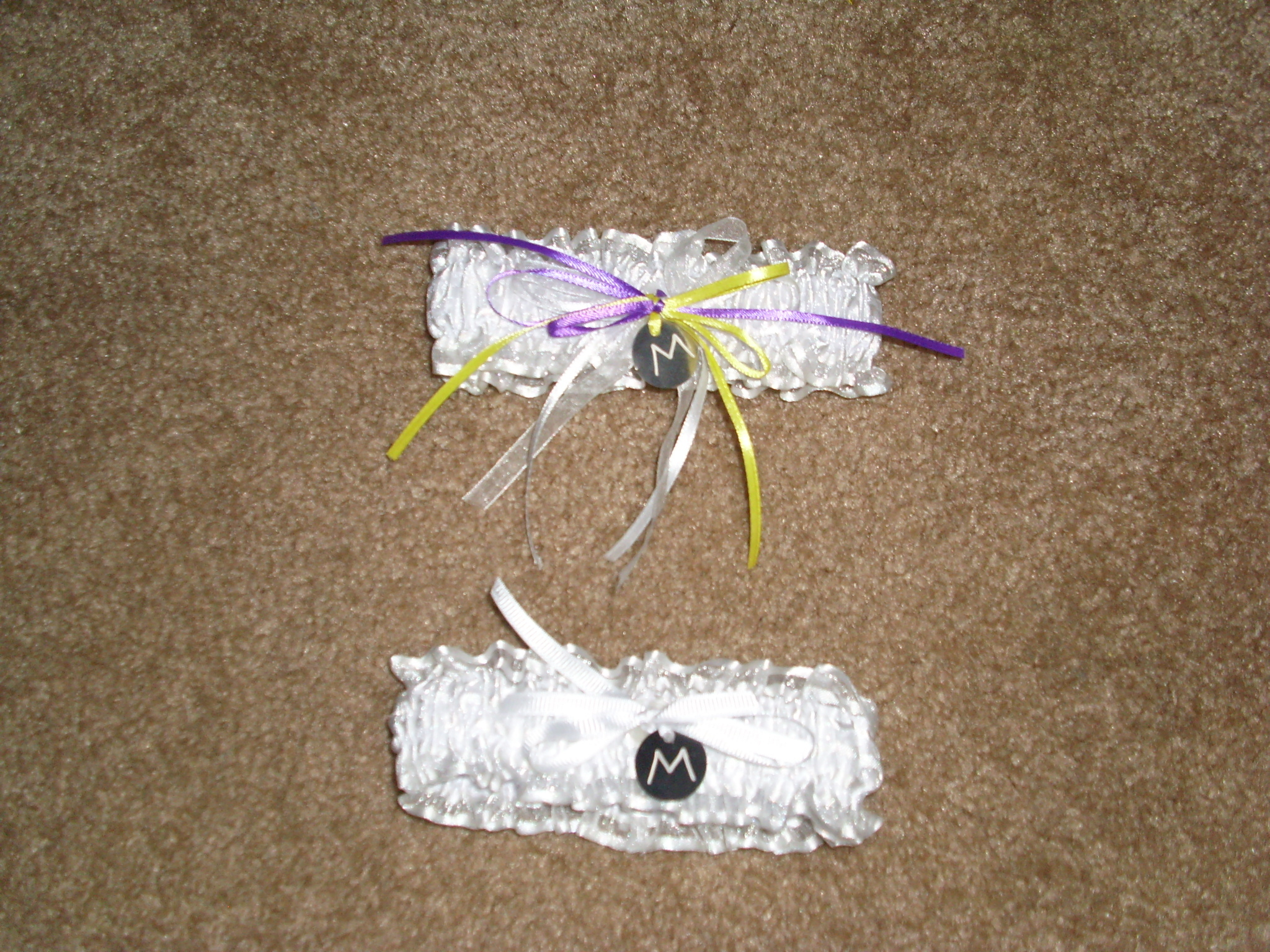 Ceremony, Flowers & Decor, white, yellow, purple, Garter