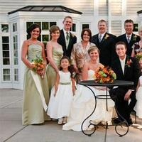 Bridesmaids, Bridesmaids Dresses, Fashion, white, orange, green, black, Groomsmen, Bride, Groom, Family, Ryan burwell photography