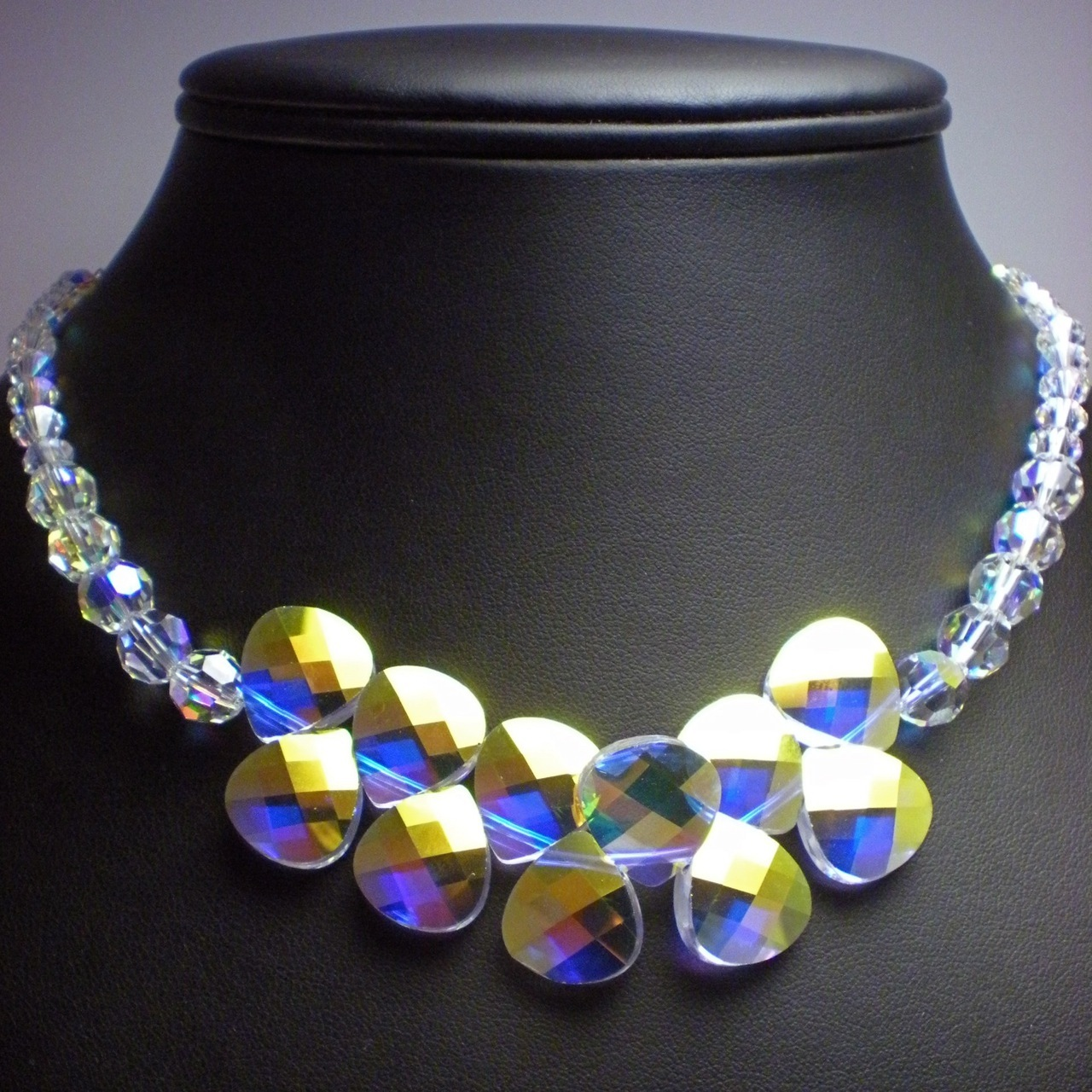 Jewelry, Bridesmaids, Bridesmaids Dresses, Fashion, white, yellow, purple, blue, green, silver, Necklaces, Modern, Bride, Bridesmaid, Bridal, Crystal, Necklace, Swarovski, Bead, Teardrop, Bling, Dana saylor designs, Pendant, Briolette, Rainbow, Clear, Ab, Adjustable, Modern Wedding Dresses