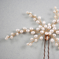 Beauty, Flowers & Decor, Jewelry, white, ivory, gold, Comb, Bride, Flower, Girl, Hair, Bridal, Pearls, Cream, Accessory, Pearl, Beads, Jane tran design