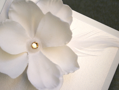 Flowers & Decor, Stationery, white, Invitations, Flower, Box, Silk, Prim pixie