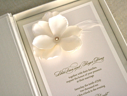 Flowers & Decor, Stationery, Invitations, Flower, Couture, Box, Silk, Prim pixie