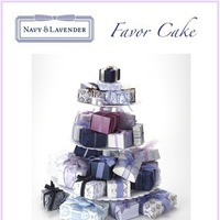 Reception, Flowers & Decor, Favors & Gifts, Cakes, purple, blue, cake, favor, Favors, Gifts, Navy lavender, Favor cake