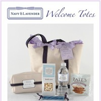 Reception, Flowers & Decor, Destinations, purple, Wedding, Gift, Destination, Welcome, Room, Bag, Tote, Treats, Navy lavender