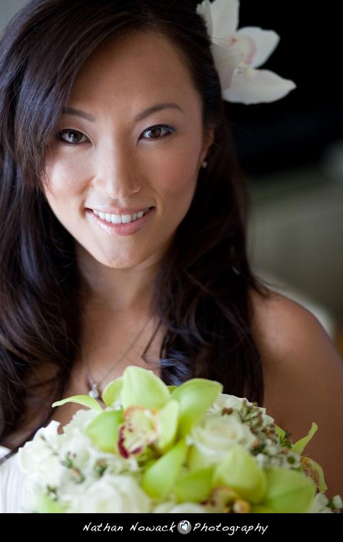 Beauty, Destinations, white, green, Makeup, Hawaii, Bride, Portrait, Wedding, Preparation, Hair, Getting, Ready, Nathan nowack photography