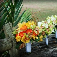 Ceremony, Inspiration, Flowers & Decor, yellow, orange, green, Ceremony Flowers, Flowers, Wedding, Board, Alohana weddings, Kaaui