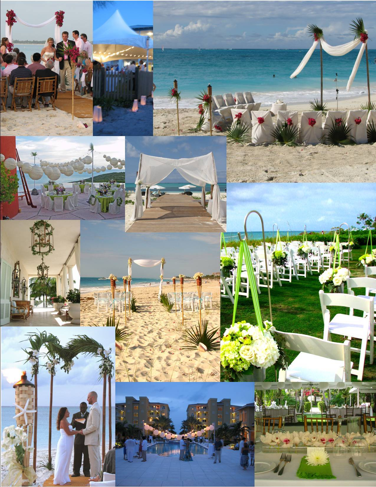 Ceremony, Inspiration, Reception, Flowers & Decor, Destinations, green, Beach, Beach Wedding Flowers & Decor, Wedding, Tropical, And, Destination, Board, Palms, Fleur de lys villa, Caicos, Turks