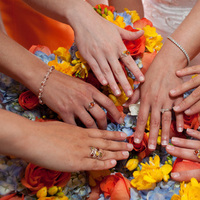 Jewelry, Bridesmaids, Bridesmaids Dresses, Fashion, white, yellow, orange, blue, Rings