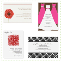 DIY, Stationery, white, yellow, orange, pink, red, purple, blue, green, brown, black, silver, gold, invitation, Modern, Modern Wedding Invitations, Invitations, Wedding, Printable, Templates, Diyinvitationtemplatescom