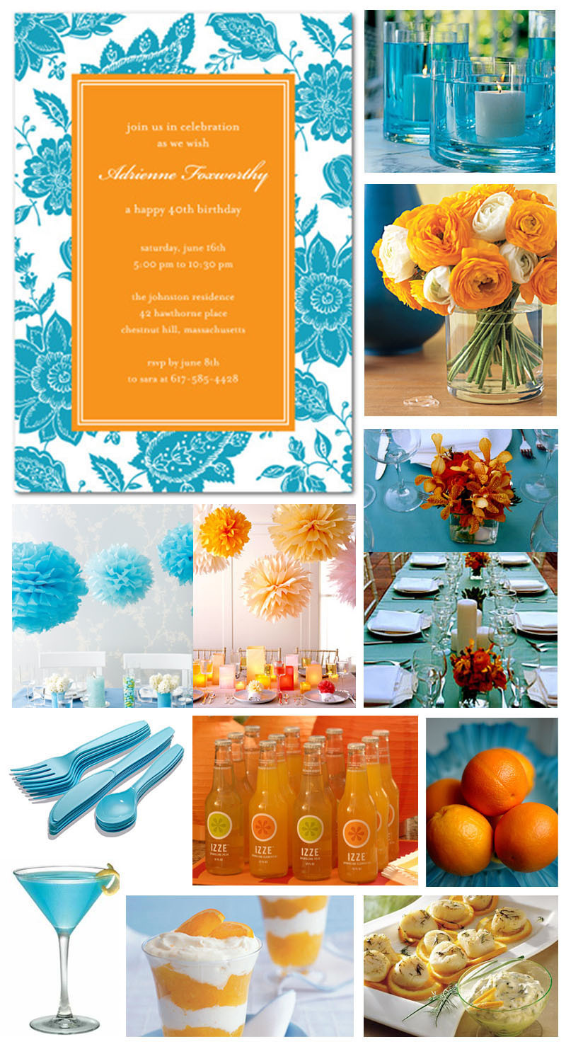 Inspiration, orange, blue, Board