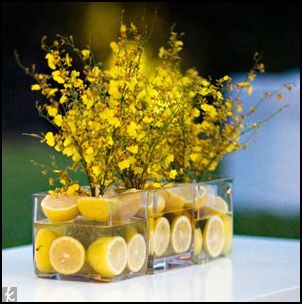 Reception, Flowers & Decor, yellow, Lemon