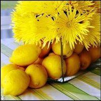 Reception, Flowers & Decor, yellow, Centerpieces, Centerpiece, Lemon