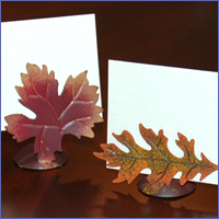 Inspiration, Reception, Flowers & Decor, orange, green, brown, silver, gold, Fall, Leaf, Board, Autumn, Oak, Harvest, Maple, Favors by lisa, Placecard holders