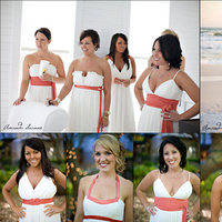Bridesmaids, Bridesmaids Dresses, Beach Wedding Dresses, Fashion, white, pink, Beach