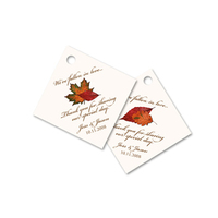 Reception, Flowers & Decor, Favors & Gifts, yellow, orange, red, brown, gold, favor, Fall, Wedding, Tags, Autumn, Leaves, Simplyou design